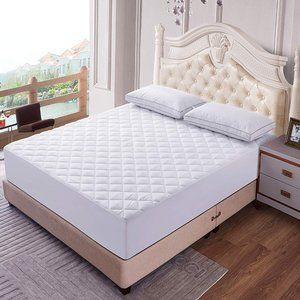 QUEEN Sz Quilted Fitted Mattress Cover Pad